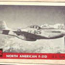 1956 Topps Jets card #212 North American F-51D, US Fighter
