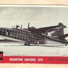 1956 Topps Jets card #208 (B) Martin Model 270, US Seaplane