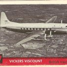 1956 Topps Jets card #57(B) Vickers Viscount, British Transport