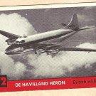 1956 Topps Jets card #72 (B) De Havilland Heron, Bristish Airliner