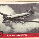 1956 Topps Jets card #72 (C) De Havilland Heron, Bristish Airliner