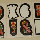 Three 1968 or 1969 Topps Love Initials sticker cards