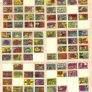 6 different 1970 Topps Stacks of Stickers non-sports sticker cards - hard to find! Lot #1