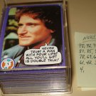 1978 Topps Mork & Mindy TV show cards 13 cards short of a complete set, NM Robin Williams Pam Dawber