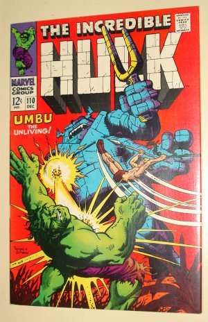Incredible Hulk #110 (1968) (C) comic book, VF/NM condition (light fading), Umbu the Unliving