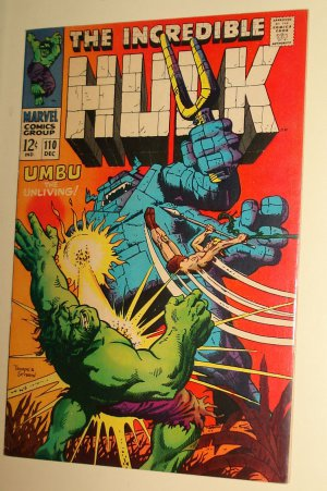 Incredible Hulk #110 (1968) (D) comic book, VG/F condition (light fading), Umbu the Unliving