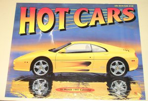 1997 Hot Cars calendar - 8.5x11 Viper, Corvette, Z3, Countach, Cobra more!