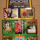 2002 Topps promo promotional football card display - never used!