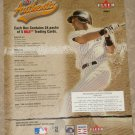 2003 Fleer Authentic baseball card promo promotional ad sneak preview sheet, NM/M