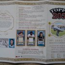 2003 Topps 205 baseball card promo promotional ad sneak preview sheet, NM/M