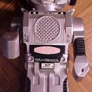 "Atomic Robot (silver colored) battery operated toy robot 11"" tall bump-n-go action"