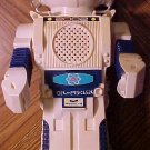 "Atomic Robot (white colored) battery operated toy robot 11"" tall bump-n-go action"