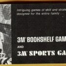 Early 1970's (?) 3M Bookshelf & Sports games catalog, NM, strategy, sports, classics, more!