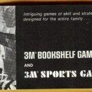 Early 1970's (?) 3M Bookshelf & Sports games catalog, NM, strategy, sports, classics, more!