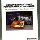 1980's Pressman games catalog, NM, Jeopardy, Wheels of Fortune, Newlywed game