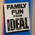 1984 Family Fun From Ideal catalog - Hi-Q, Gridlock, Time Factor, Solid Gold, more!