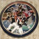 "St. Louis Rams clock - Marc Bulger, Isaac Bruce, Torry Holt NFL football, 12.5"" in diameter"