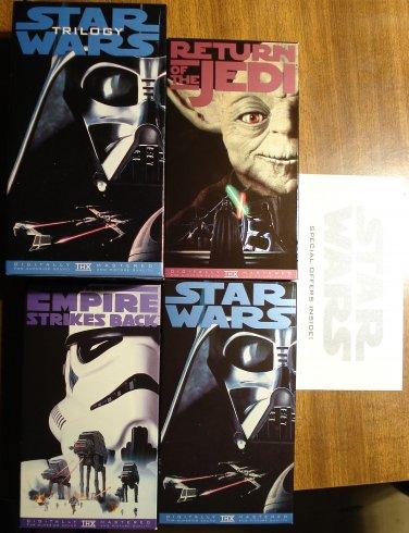 Star Wars Trilogy 3 VHS video tape set w/ slipcase movie film, Never viewed