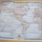 National Geographic Magazine World map insert - December 1951