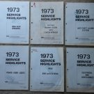 6 diff 1973 Ford Mercury Service Highlights repair manuals Electrical Truck, Anti-Theft, MORE!