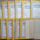 1936 National Geographic Magazine - full entire complete year January  - December - 12 issues