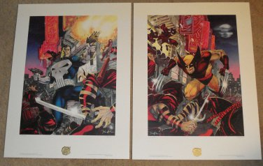 Bad Night For Ninjas painting print lithograph by Jim Lee Signed & #'d 1934/2500 Wolverine Punisher