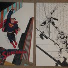 Original artwork of Superman, Spider-Man & Captain America