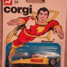 Corgi Shazam (Captain Marvel) mobile car MINT on card, never opened, 1979