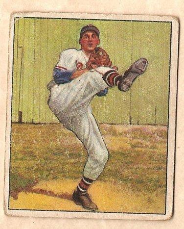 1950 Bowman Baseball Card 19 B Warren Spahn Gvg Boston