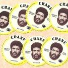 1976 Crane Potato Chips football disc card Isaac Curtis Cincinnati Bengals 7 cards LOT #2