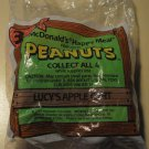 Peanuts Lucy figure (Lucy's Apple Cart) 1989 McDonalds Happy Meal toy, MIP never opened