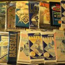32 packs of various years & brands of sports cards, sealed, mint, baseball, football, hockey