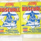 4 packs 1990 Score Baseball card wax packs, never opened, MINT, 16 cards each