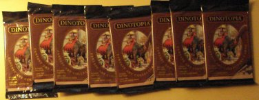 8 packs Dinotopia fantasy dinosaurs non-sports cards wax packs , unopened, 8 cards/pack