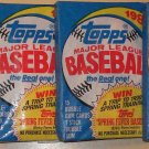 4 packs 1989 Topps Baseball card wax packs, never opened - 15 card packs, LOT #2
