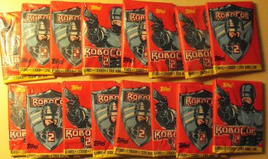 16 packs Robocop 2 (II) movie non-sports cards packs, unopened, 9 cards/pack Peter Weller