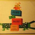 Just a Box? Scholastic children's SC book, 1968, Goldie Taub Chernoff