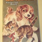Baby Animals Coloring Book, Whitman 1964, uncolored, very nice shape - 5¢ cover price!