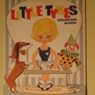Little Tykes Coloring Book, 1950's(?), vintage children's book, Stephens Publishing