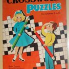 Crossword Puzzles for Children book, 1950's - 1960's, Saalfield Pub., brain teasers & more