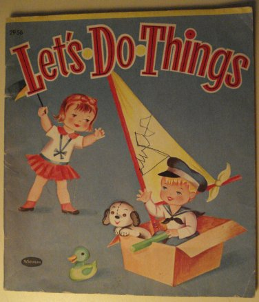 Whitman Pub. Let's Do Things children's activity book, 1953, puzzles, coloring, fun and more!