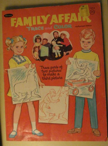 Whitman Pub. Family Affair Trace & Color coloring book, 1969, based on TV show, Brian Keith