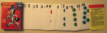 Quick Draw McGraw card game by Ed-U-Cards, dated 1961, Hanna Barbara, 36 cards