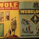 Wolf (1972) & Webelos (1973) Boy Scout books handbooks both w/ parents' supplement