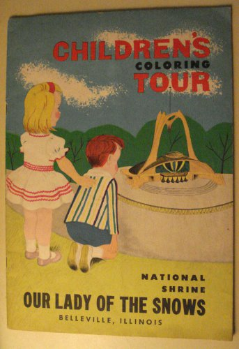 Children's Coloring Tour Our Lady of the Snows National Shrine coloring book, 1960's?, nice shape!