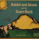 Rabbit & Skunk & the Big Rock - Scholastic children's Paperback book, 1971, Carla Stevens
