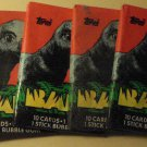7 packs Topps baby movie non-sports cards packs, unopened, 10 cards/pack, dinosaurs