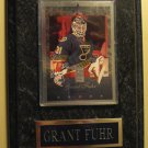1996 Donruss Elite Hockey card - Grant Fuhr #42 mounted on a wood plaque! NM/M