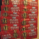 12 unopened packs 1991 Regina Rugby World Cup cards, never opened