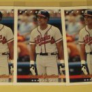 6 Dave (David) Justice baseball cards, Upper Deck, Topps, Bowman, NM/M